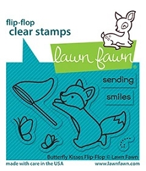 Lawn Fawn - Clear Stamps - Butterfly Kisses Flip-Flop
