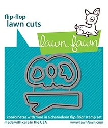 Lawn Fawn - Die - One In A Chameleon Flip-Flop Lawn Cuts