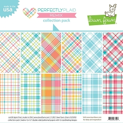 Lawn Fawn - 12x12 paper pack - Perfectly Plaid Remix
