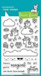 Lawn Fawn - Clear Stamps - Unicorn Picnic