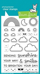 Lawn Fawn - Clear Stamps - All The Clouds