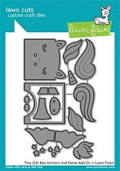Lawn Fawn - Die - Tiny Gift Box Unicorn and Horse Add-On Lawn Cuts