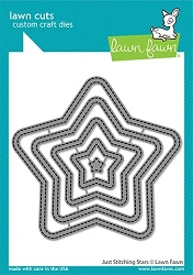 Lawn Fawn - Die - Just Stitching Stars Frame