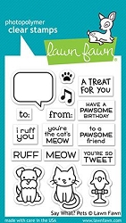 Lawn Fawn - Clear Stamps - Say What? Pets