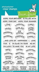 Lawn Fawn - Clear Stamps - Reveal Wheel Friends & Family Sentiments