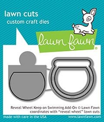 Lawn Fawn - Die - Reveal Wheel Keep On Swimming Add On