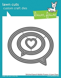 Lawn Fawn - Die - Stitched Speech Bubble Frames