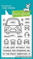 Lawn Fawn - Clear Stamps - Car Critters