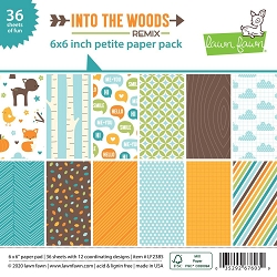 Lawn Fawn - 6x6 paper pad - Into The Woods Remix Petite Paper Pack