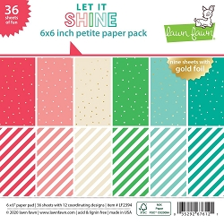 Lawn Fawn - 6x6 paper pad - Let It Shine Petite Paper Pack