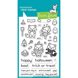 Lawn Fawn - Clear Stamps - Fox Costumes Before 'n Afters