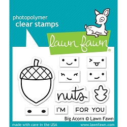 Lawn Fawn - Clear Stamps - Big Acorn