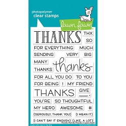 Lawn Fawn - Clear Stamps - Thanks Thanks Thanks
