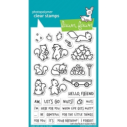 Lawn Fawn - Clear Stamps - Let's Go Nuts