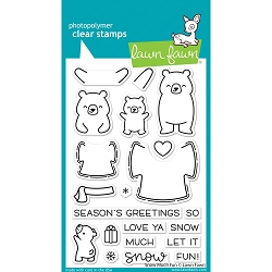 Lawn Fawn - Clear Stamps - Snow Much Fun