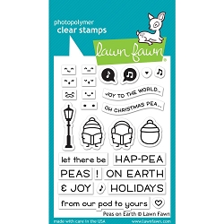 Lawn Fawn - Clear Stamps - Peas On Earth