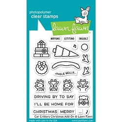Lawn Fawn - Clear Stamps - Car Critters Christmas Add-On