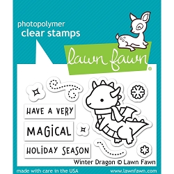 Lawn Fawn - Clear Stamps - Winter Dragon