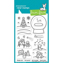 Lawn Fawn - Clear Stamps - Snow Globe Scenes