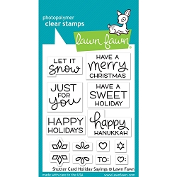 Lawn Fawn - Clear Stamps - Shutter Card Holiday Sayings
