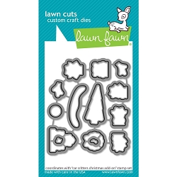 Lawn Fawn - Die - Car Critters Christmas Add-On Lawn Cuts
