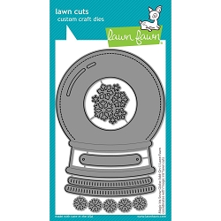 Lawn Fawn - Die - Magic Iris Snow Globe Add-On Lawn Cuts