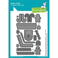 Lawn Fawn - Die - Build-A-House Gingerbread Add-On Lawn Cuts