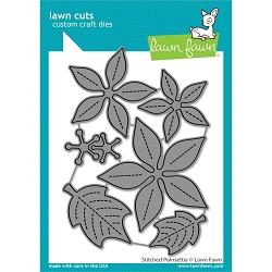 Lawn Fawn - Die - Stitched Poinsettia Lawn Cuts