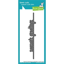 Lawn Fawn - Die - Season's Greetings Line Border Lawn Cuts