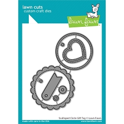 Lawn Fawn - Die - Scalloped Circle Gift Tag Lawn Cuts