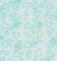 Leane Creatif - LeaCrea Design Embossing Folder - Hearts