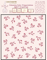 Leane Creatif - LeaCrea Design Embossing Folder - Background Bows (6