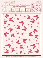 Leane Creatif - LeaCrea Design Embossing Folder - Background Butterflies (6