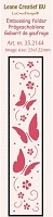 Leane Creatif - LeaCrea Design Embossing Folder - Border Butterflies (1.25