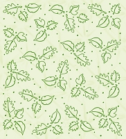 Leane Creatif - LeaCrea Design Embossing Folder - Background Leaves (6