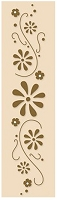 Leane Creatif - LeCrea Design Embossing Folder - Border Flower Swirls