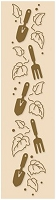 Leane Creatif - LeCrea Design Embossing Folder - Border Garden Tools and Ivy