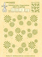 Leane Creatif - LeaCrea Design Embossing Folder - Background Flowers (6