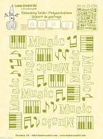 Leane Creatif - LeaCrea Design Embossing Folder - Background Music (6
