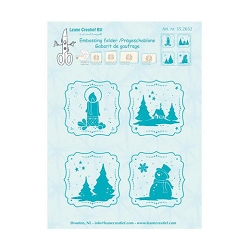 Leane Creatif - LeaCrea Design Embossing Folder - Winter Frames  (6