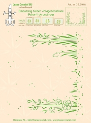 Leane Creatif - LeaCrea Design Embossing Folder - Background Garden (6