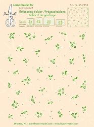 Leane Creatif - LeaCrea Design Embossing Folder - Background Little Flowers (6