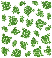 Leane Creatif - LeaCrea Design Embossing Folder - Background Roses (6