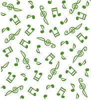 Leane Creatif - LeaCrea Design Embossing Folder - Background Musical Symbols (6