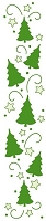 Leane Creatif - LeaCrea Design Embossing Folder - Border Christmas Trees (1.25