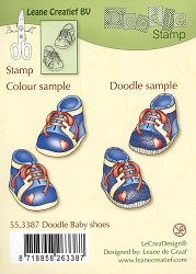 Leane Creatif - Lea'bilities Clear Stamp - Doodle Baby Shoes