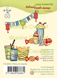 Leane Creatif - Party & Snacks Clear Stamp