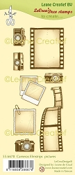 Leane Creatif - Cameras, Filmstrips & Pictures Clear Stamp