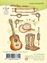 Leane Creatif - Cowboys & Line Dance Clear Stamp