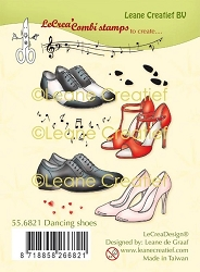 Leane Creatif - Dancing Shoes Clear Stamp